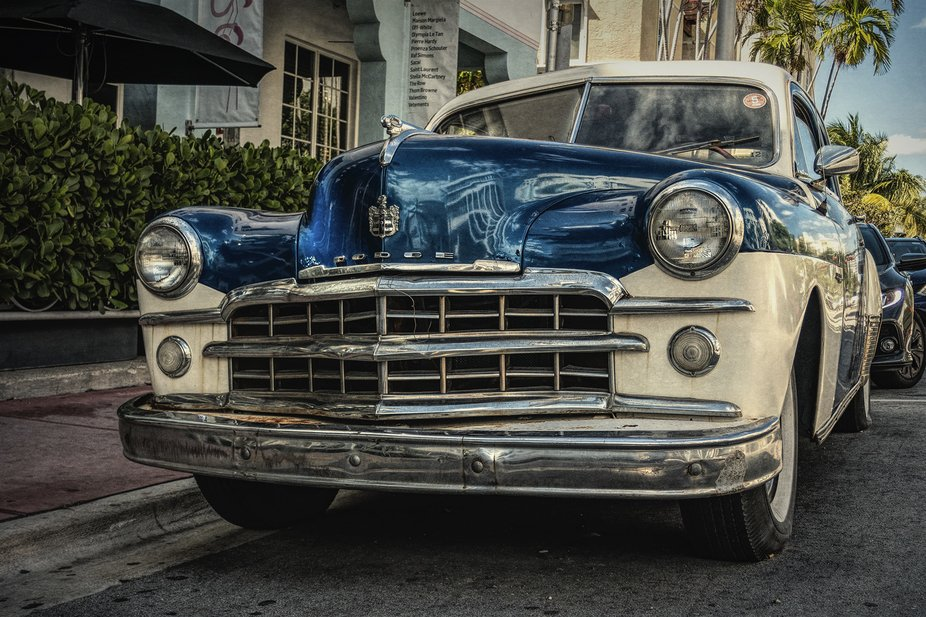 Old Dodge in the Art Deco district of Miami