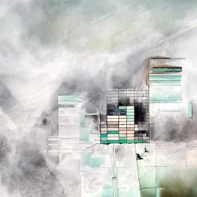 Aerial shot of Salar de Uyuni