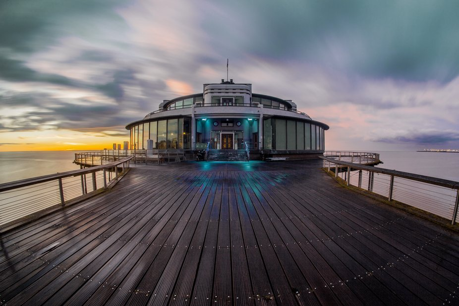 Pier in Blankenberge Belgium. Awesome colors that day.