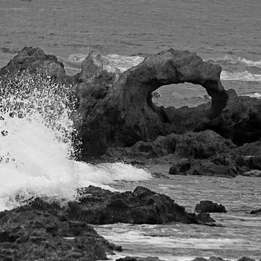 Black and white waves
