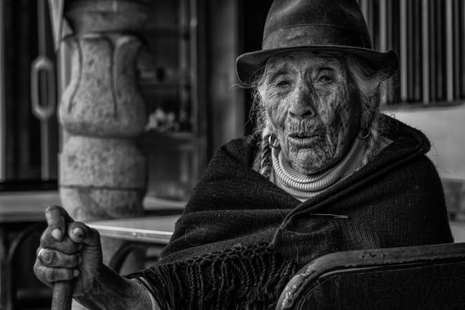 Leticia from Incapirca - Ecuador, 94 years old, indigena Canari