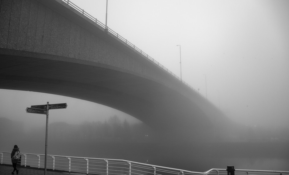 River Clyde in Glasgow was covered in mist, which presented a great opportunity for some extra co...