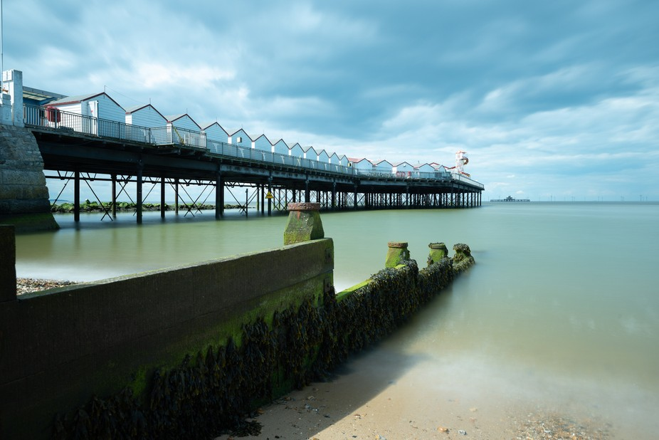 The remaining part of Herne Bay pier ready for the tourists to arrive