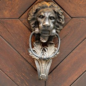 Door knocker and wooden door detail