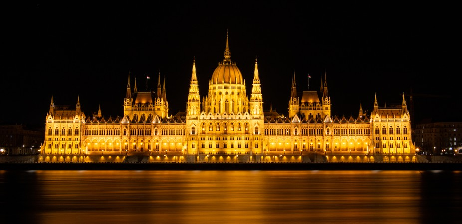 The Hungarian Parliament Building, also known as the Parliament of Budapest after its location, i...