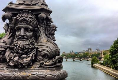 France . Paris . Urban Landscape , view from a bridge