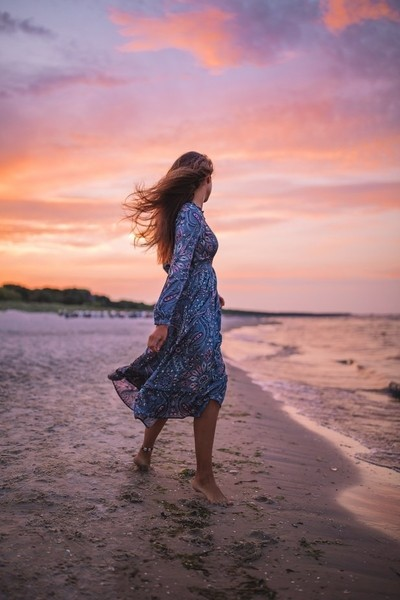Dancing in the sunset