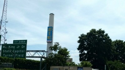 I loved the message on the tower so much that I preserved it by capturing it's image on my cellphone camera.