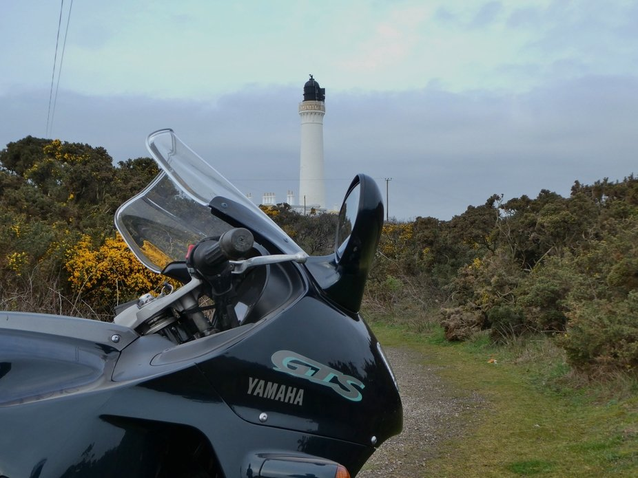 Covesea Lighthouse, complete with GTS 1000 Yamaha