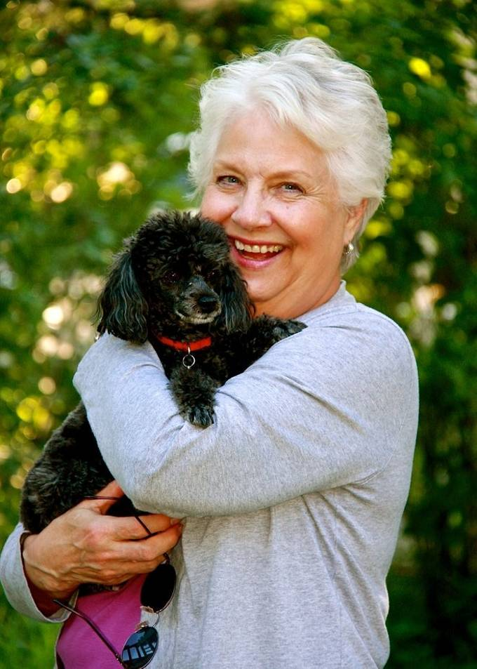 Aunt Joan and her dog.