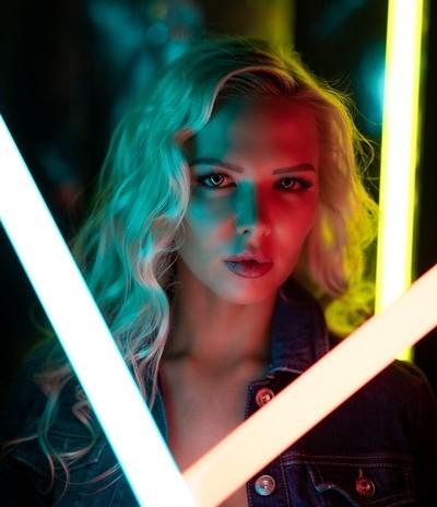 Neonlight Portrait