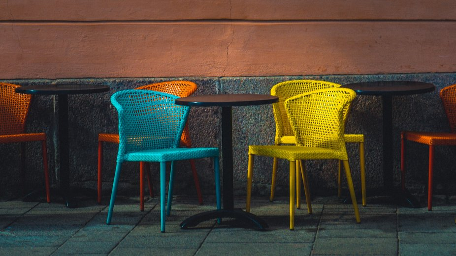 Time to renew your garden furniture. Go Bold, do color!