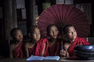 Novice Monks Myanmar