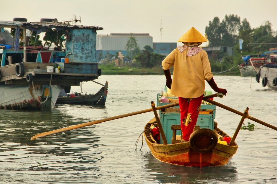 This photo is from Mekong river Delta wing at Saigon Viet Nam
