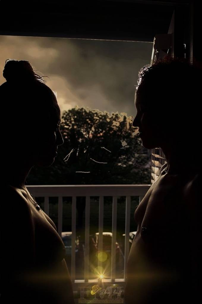 Two Flawless Starz models, Lil Red and Tacianna in a sunset shot experiment