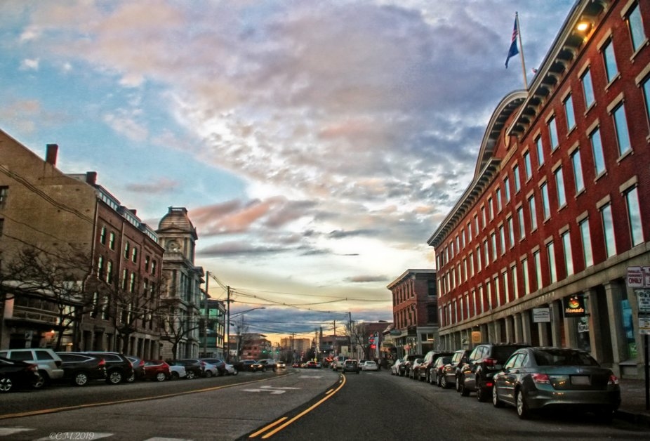 On our way through Portland, Maine to get our daughter to Prom. The sky was so amazing! Was a goo...