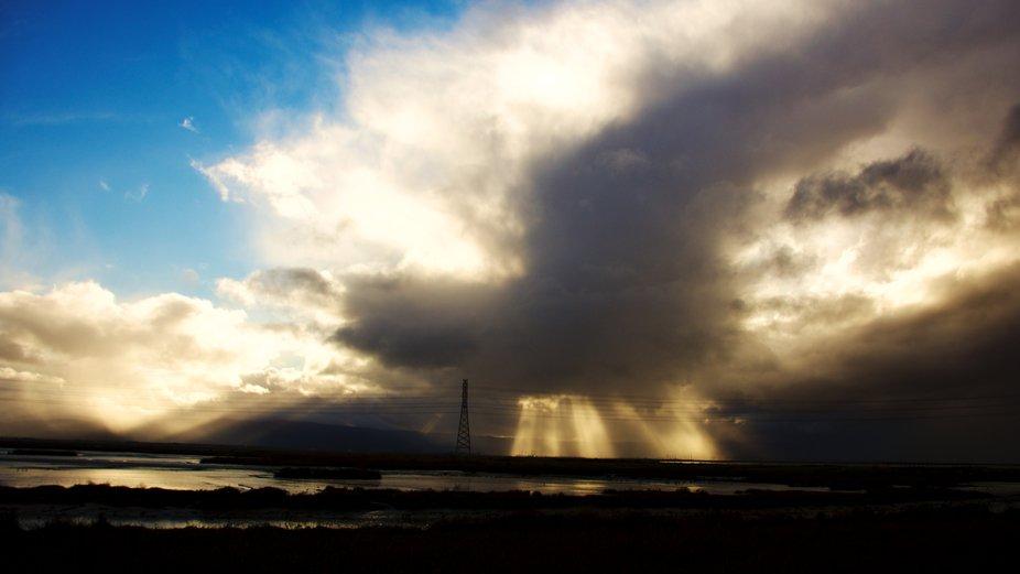 Sun light flowing through the clouds...