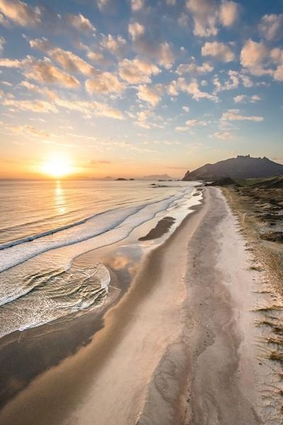 Amazing sunrise on Oceans Beach, Whangarei Heads