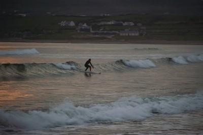 An evening surf