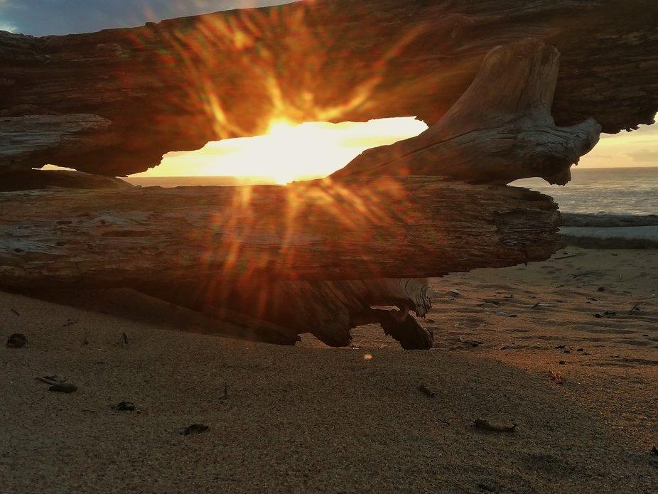 Blazing sun rise
