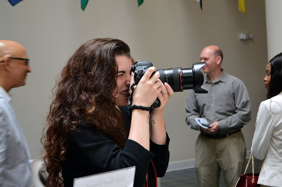 Loren, a photography team member at the 2019 University of Valley Forge graduation ceremony.