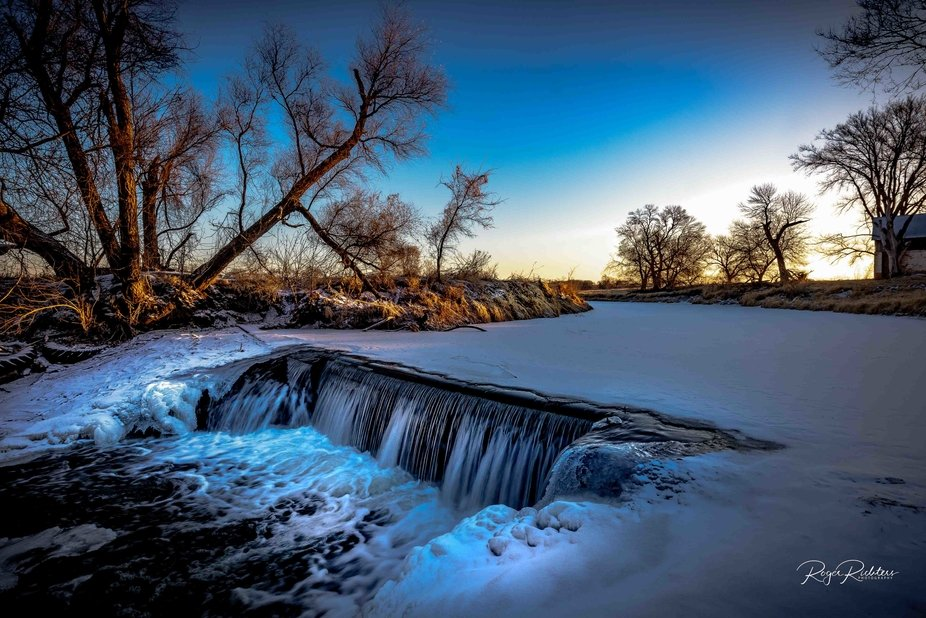 Winter Waterfalls .