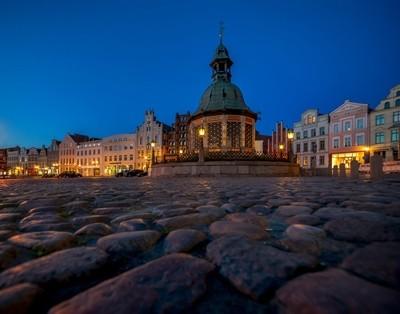 The old market Wismar, Germany