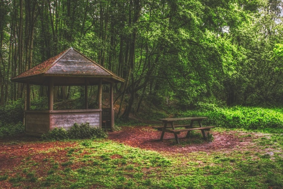 Hidden in Lozer forest there is an old picnic spot.