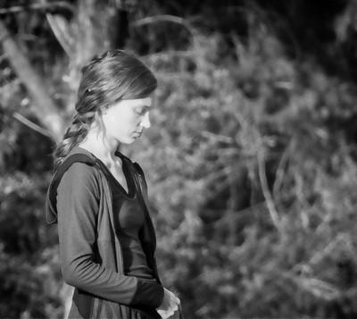 The pensive girl
