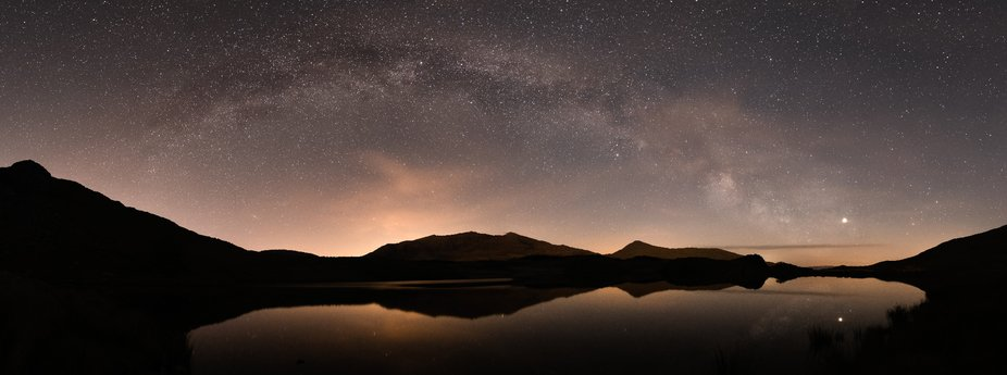 Milkyway Arching over Mount Snowdon in Snowdonia, North Wales. A great night under the Stars again