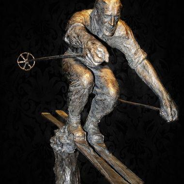 Sculpture of Skier (1)