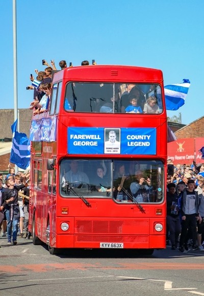 Champions open top bus parade