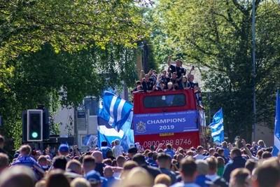 Open top bus parade