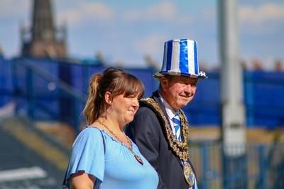 Dignitaries at the Champions parade