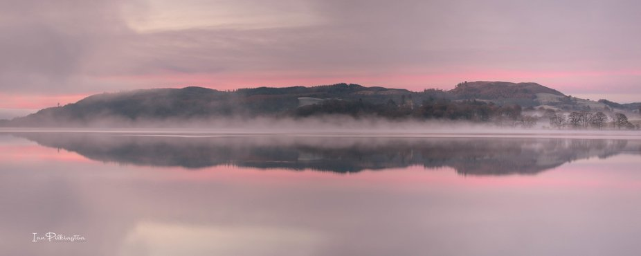 8am on Christmas eve, Lake Windermere stood still as the mist hogged the water, the sunrise didn&...