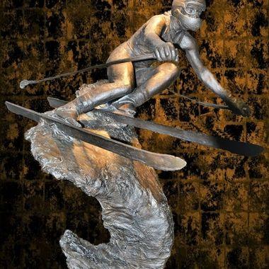 Sculpture of Skier (2)