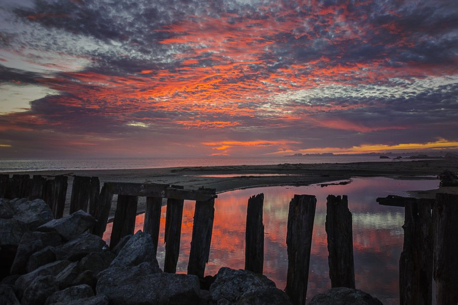 Fantastic Firey Sunset in Aptos California