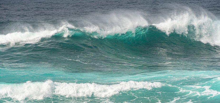 Sunlit wave...