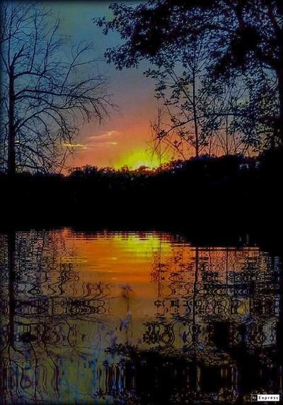 Into the daylight layered sunrise lights the way