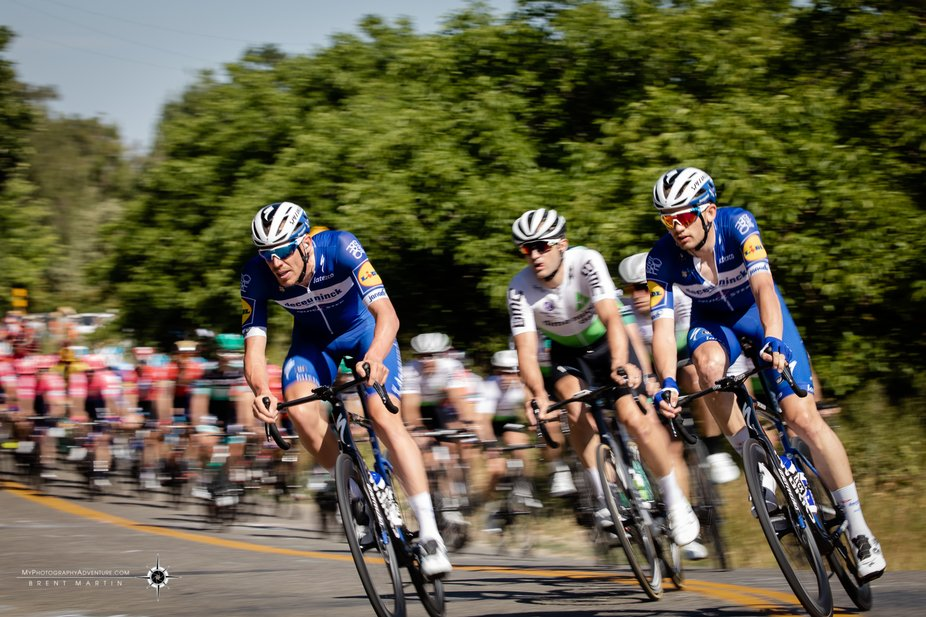 Leading the pack of 129 riders through the twists and turns of rural Yolo County in Stage #1 of t...