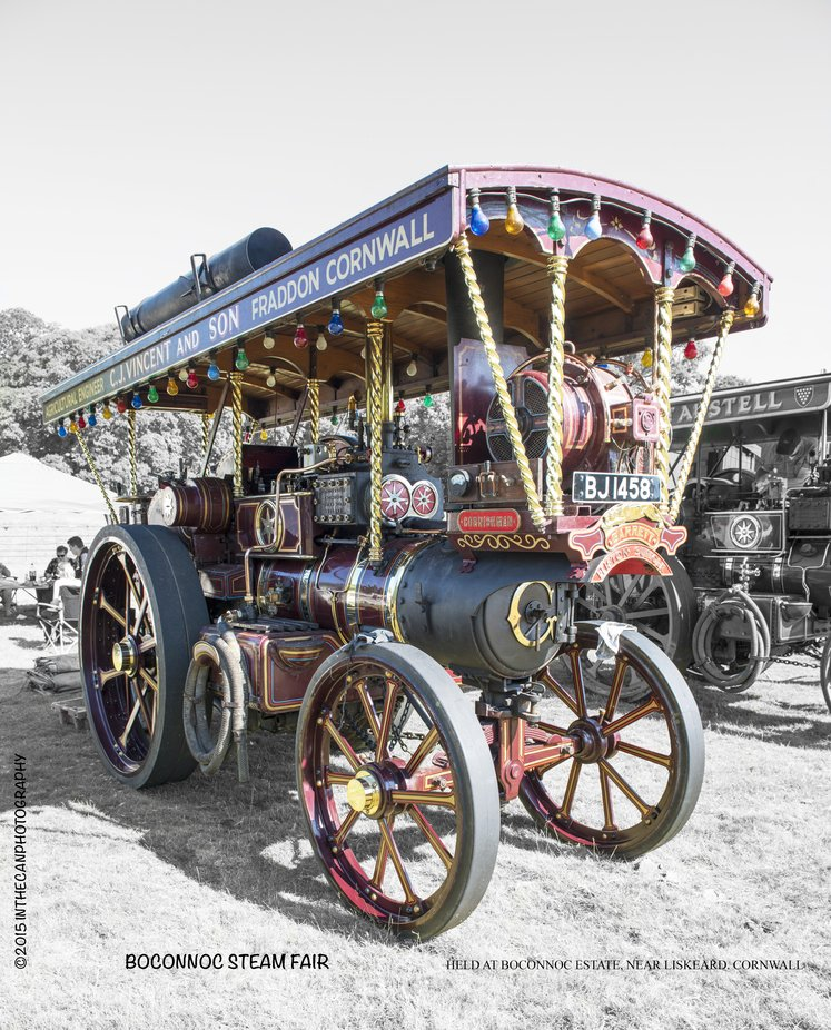 A great display of fine steam engines all restored by dedicated owners. This I believe is a showman's engine proving power from the belt driven generator on the front to drive fairground rides and lighting etc.