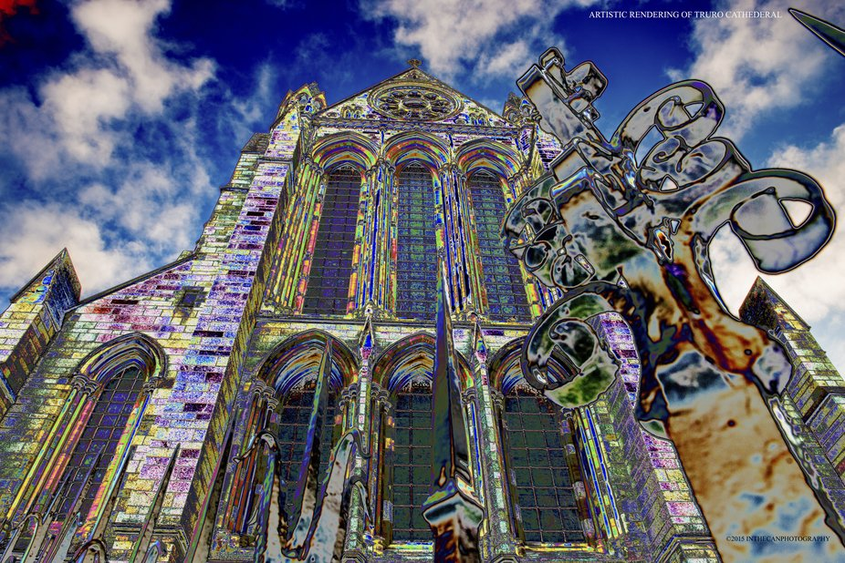 Truro has this wonderful cathedral that I like to colour up.