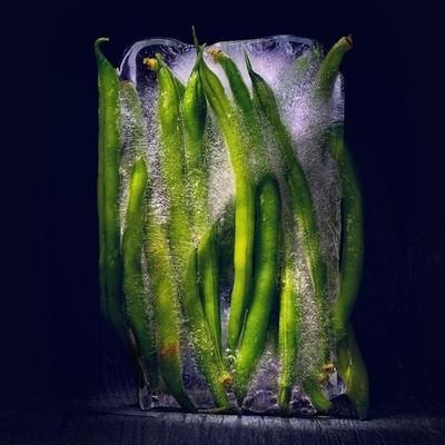 Fresh beans#beans #ice #frozen #lightpainting #light #green #photography #ph