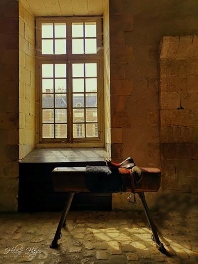 In the former horse stable of the Castle La Ferté - de - St.- Aubin-France