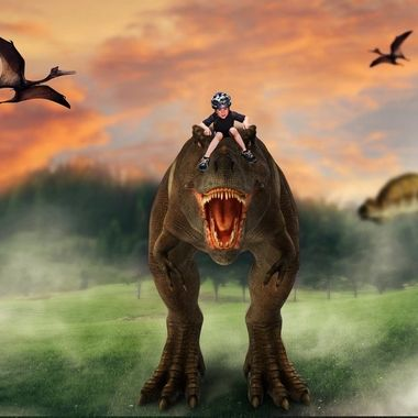 {Nico} Riding the Dinosaur