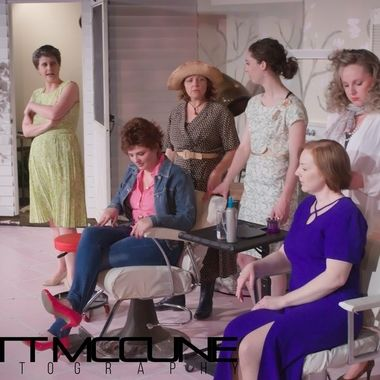 A scene from a dress rehearsal of Steel Magnolias at Pullman Civic Theatre in Pullman, Washington.