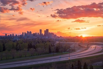 Gold Hour at View of Calgary