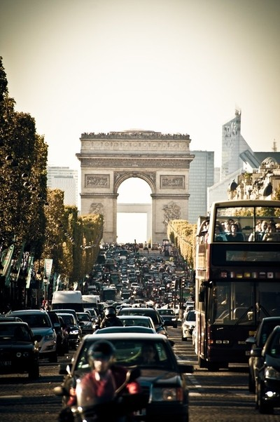 Champs Elysees and the Arc de Triomphe