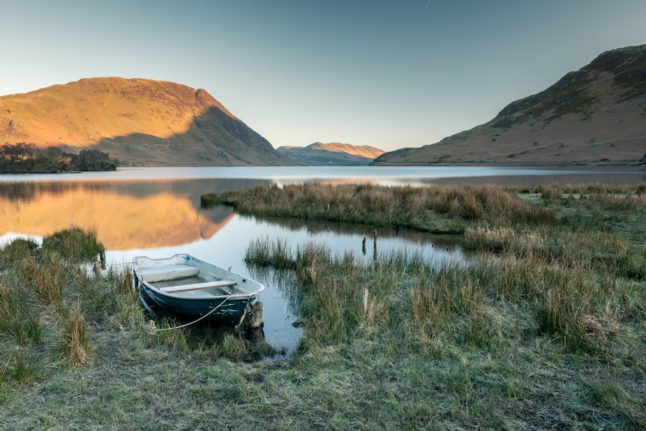 Boat of Crummock Water    Taken on a nice peaceful morning at Crummock Water. Still calm water, r...