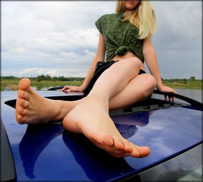 Too Small Car For Her Legs IMG_3645.JPG